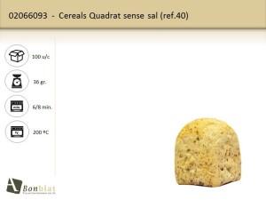 Cereals Quadrat sense sal