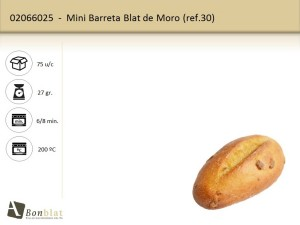 Mini Barreta Blat de Moro