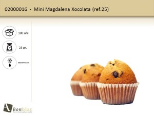 Mini Magdalena Xocolata