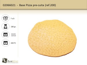 Base pizza pre-cuita