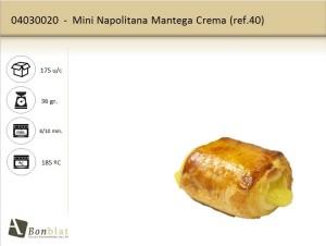 Mini Napolitana Mantega Crema