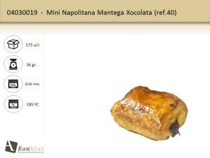 Mini Napolitana Mantega Xocolata