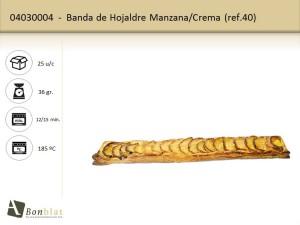 Banda de Hojaldre Manzana, Crema
