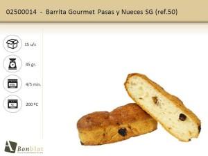 Barrita Gourmet Pasas y Nueces SG