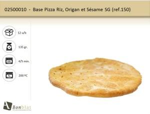 Base Pizza Riz, Origan et Sésame SG