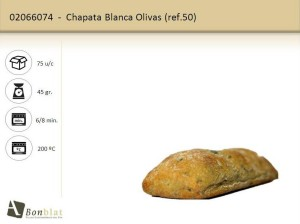 Chapata Blanca Olivas