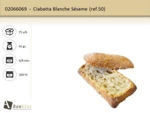 Ciabatta Blanche Sésame