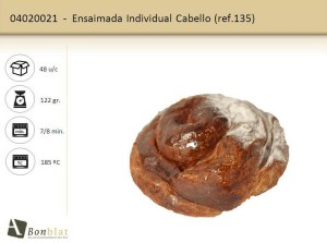 Ensaimada Individual Cabello