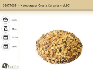 Hamburguer Crosta Cereales