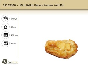 Mini Ballot Danois Pomme
