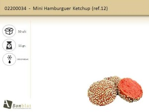 Mini Hamburguer Ketchup