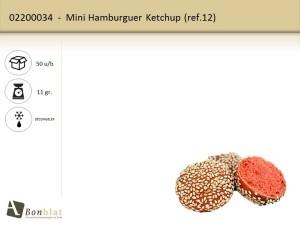 Mini Hamburguer Ketchup