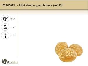 Mini Hamburguer Sésame
