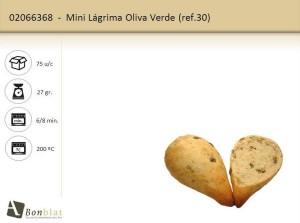 Mini Lágrima Oliva Verde
