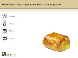 Mini Napolitaine Beurre Crème