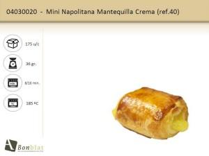 Mini Napolitana Mantequilla Crema