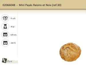 Mini Payés Raisins et Noix