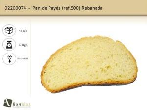 Pan de Payés 500 Rebanada