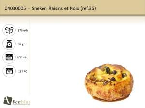 Sneken Raisins et Noix